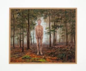 "Bixby, Brian: ""Wolfman in Forest"" 2014 Oel auf Leinwand, 75 x 95 cm  (Preis auf Anfrage)"