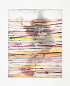 """Neugebauer, Alexander: """"o.T. (Streifen)"""", 2016, 100 x 80 cm, Ölstift, Ölarbe, Gaphit auf Leinwand, Preis:  820 EUR"""