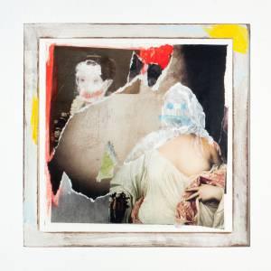 """Neugebauer, Alexander: """"o.T."""", 2015, 18 x 18 cm, Collage, Preis: 120 €"""