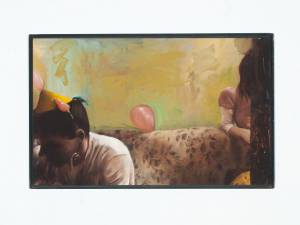 "Freitag, Enrico: ""Alles, alles Gute"", 2010, Öl auf MDF-Platte, Stahlrahmen, 32 x 52 cm, Preis auf Anfrage"