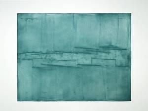 """Reinbothe, Franziska: """"Blau, zentriert"""" 2013  110 x 140 cm, Öl auf Leinwand (Preis auf Anfrage)"""