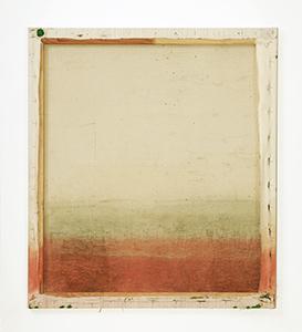 """Reinbothe, Franziska:  """"kitschy landscape von hinten"""", 2013 80 x 70 cm, Pigment und Kugelschreiber auf Leinwand (Preis auf Anfrage)"""
